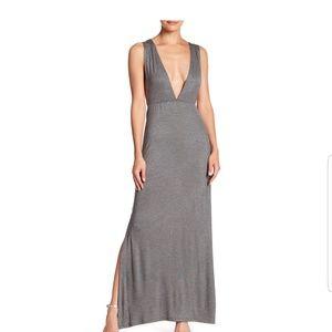 Velvet Torch Plunge Maxi Dress